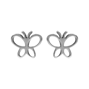 Boucles d'oreilles Acier papillon