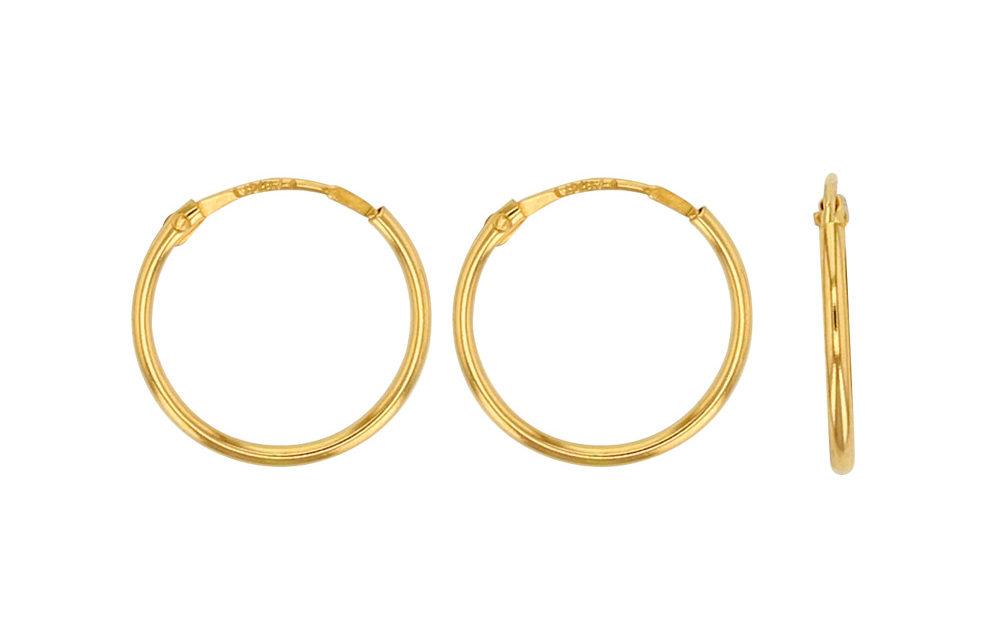 Créoles or 18 carats 750/1000